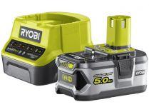 Sada Ryobi RC18120-150: 1x aku 18V/5.0Ah Li-Ion + nabíječka Ryobi RC18120