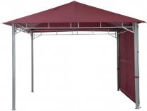 Zahradní kovový altán TEPRO Lehua, vínová střecha - 285x330x330cm