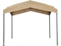 Zahradní kovový altán TEPRO Marabo, okrová střecha - 275x305x305cm