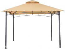 Zahradní kovový altán Karibu Waya, písková střecha - 290x330x330cm