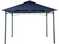 Zahradní kovový altán TEPRO Waya, tmavě modrá střecha - 290x330x330cm