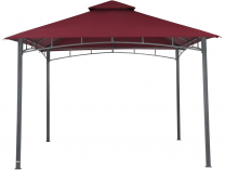 Zahradní kovový altán TEPRO Waya, vínová střecha - 290x330x330cm
