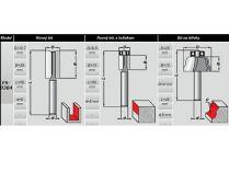 3-dílná sada frézek DWT FS-0304 - drážkovací, zarovnávací, frézka na klasický profil