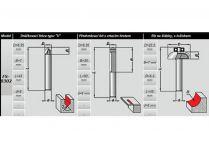 3-dílná sada frézek DWT set V - drážkovací, prořezová, žlábkovací
