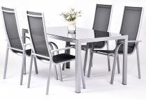 Garland Edina 4+ sestava nábytku z hliníku (1x stůl Ryan + 4x židle Paola Standard)