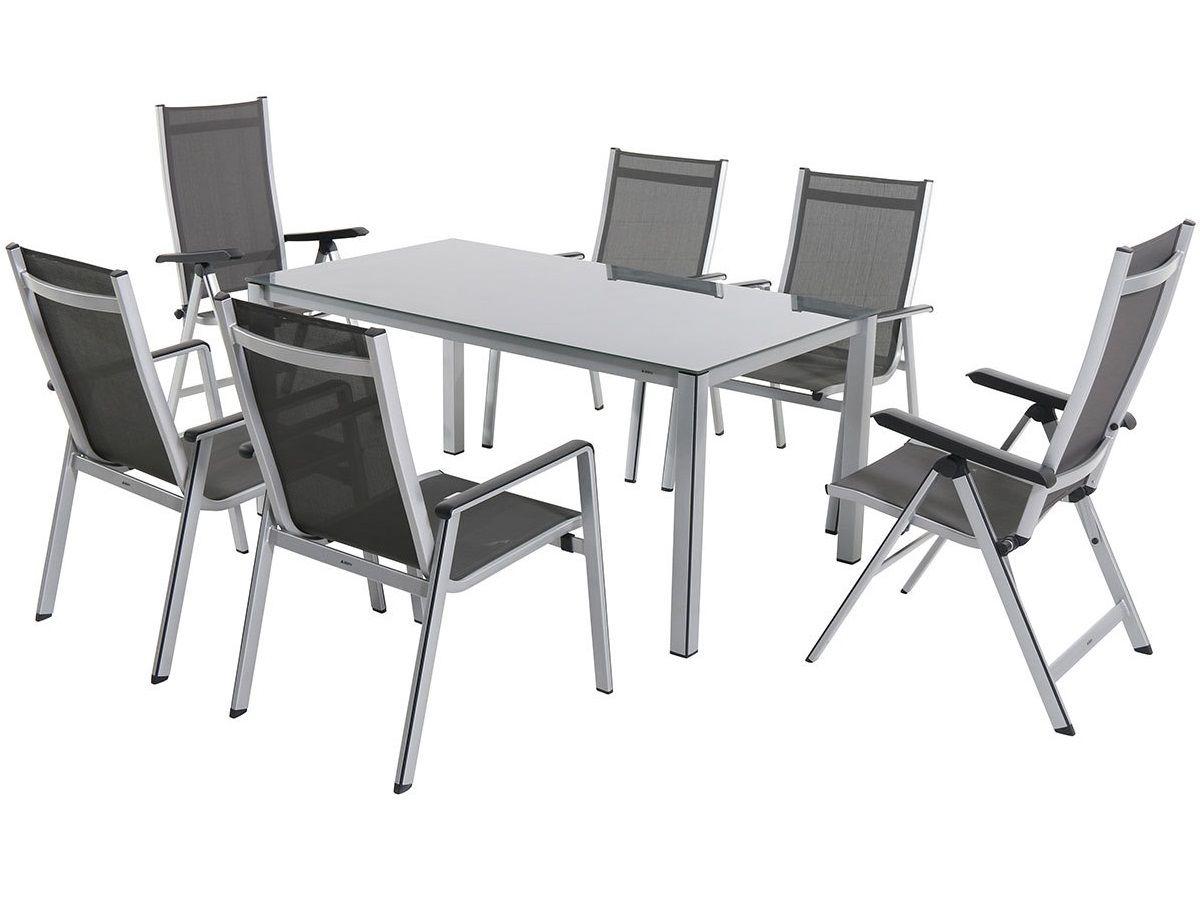 Garland Elements 6+ sestava nábytku sestava nábytku (1x stůl Elements Creatop-Lite + 4x stoh. + 2x pol. židle Elements), kód: Elements4_2 GARLAND zahradní nábytek