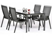 Garland Forios 4+ sestava nábytku (1x stůl Alutapo Creatop-Lite + 4x stoh. židle Forios)