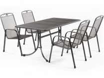 MWH Banis 4+ sestava nábytku z tahokovu (4x židle Savoy, 1x stůl Universal 145)