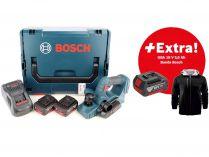 Bosch GHO 18 V-LI Professional - 2x 18V/5.0Ah Li-ion, 82mm, 2.6kg, kufr L-BOXX, aku hoblík + DÁRKY