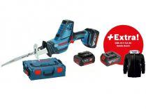Aku pila ocaska Bosch GSA 18 V-LI C Professional - 2x 18V/5.0Ah, 2.5kg, kufr L-BOXX + DÁRKY