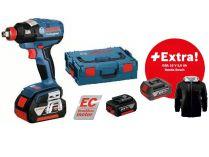 Bosch GDX 18 V-EC Professional - 2x 18V/5.0Ah, 185Nm, 1.7kg, kufr, aku rázový utahovák + DÁRKY