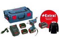 Bosch GDS 18 V-EC 250 Professional - 2x 18V/5.0Ah, 250Nm, 1.9kg, kufr, aku rázový utahovák + DÁRKY
