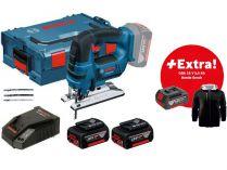 Bosch GST 18 V-LI B Professional - 2x 18V/5.0Ah Li-ion, 2.4kg, kufr, aku přímočará pila + DÁRKY
