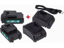 Sada PowerPlus POWEB9090 2x baterie 18V LI-ION 1.5Ah + 2x nabíječka