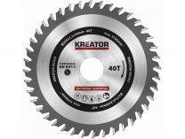 Pilový kotouč na dřevo 235mm 40T - Kreator KRT020436 235x30x2.2mm, 40 zubů