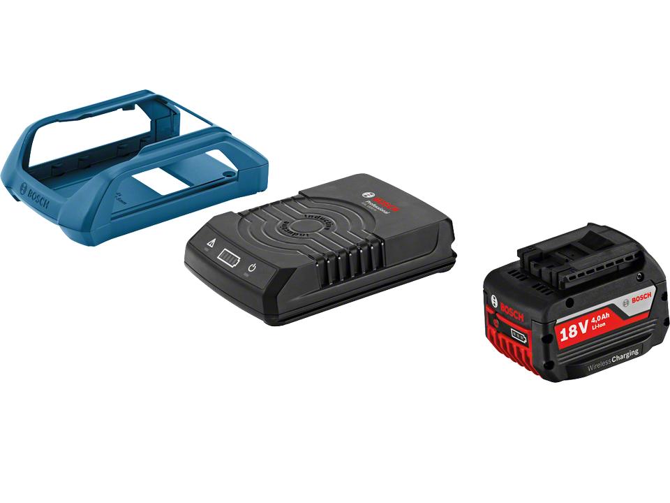 Startovací sada Akumulátor Bosch GBA 18V 1x 4.0Ah MW-C + Bezdrátová nabíječka Bosch GAL 1830 W s bezdrátovým nabíjením + rámeček Professional (1600A00C43) Bosch příslušenství