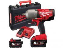 Milwaukee M18 FHTIWF12-502X - 2x 18V/5.0Ah, 1356Nm, 3.3kg, kufr, aku rázový utahovák