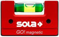 SOLA - GO! magnetic - kompaktní vodováha 6,8 cm