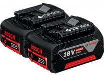 Zásuvné akumulátory Bosch GBA 18V 4.0 Ah M-C battery set Professional - 2ks, CoolPack