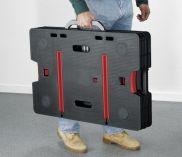 Přenosný složitelný pracovní stůl KETER s nastavitelnými nohami 85x55x11.2cm, nosnost 453kg (3.36103)
