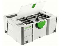 Kufr Systainer Festool T-LOC DF SYS 2 TL-DF s přihrádkou a průhledným víkem