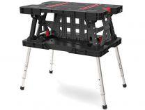 KETER - Přenosný složitelný pracovní stůl s nastavitelnými nohami 85x55x11.2cm