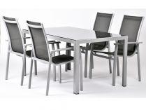 Garland sedací sestava (1x stůl Ryan + 4x židle Valentina Comfort) - Aurelia 4+
