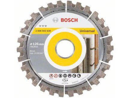 Univerzální diamantový kotouč Bosch Professional Best for Universal 125mm, 12mm na beton, zdivo, cihly, žulu, litinové trubky a kov Bosch příslušenství
