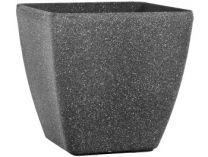 Květináč G21 Industrial Cube 35x34x35cm - šedý plast pískovaný, 1.75kg