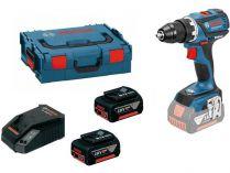 Bosch GSR 18 V-EC Professional - 2x 18V/2.0Ah, kufr, bezuhl. aku vrtačka bez příklepu
