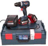 Bezuhlíková aku vrtačka bez příklepu Bosch GSR 18 V-EC Professional - 2x 18V/2.0Ah, L-Boxx (06019E8107) Bosch PROFI