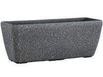 Květináč G21 Industrial Tub 75x23x22cm - šedý plast pískovaný, 2.55kg