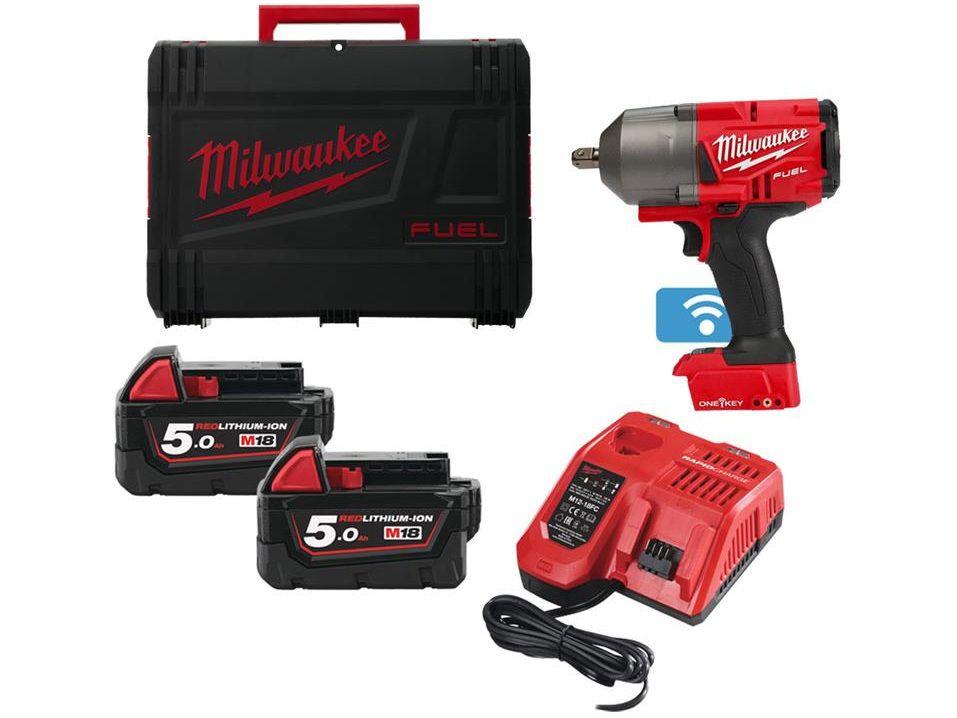 Aku rázový utahovák Milwaukee M18 ONEFHIWF34-502X - 2x 18V/5.0Ah, 2034Nm, 3.5kg, v kufru (4933459730)