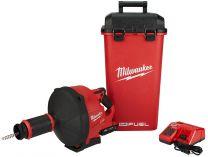 Aku čistič potrubí Milwaukee M18 FDCPF10-0C - 2x 18V/2.0Ah, spirála 10mm, 6.9kg