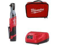Milwaukee M12 FIR38-201B aku úhlový utahovák - 1x 12V/2.0Ah, 75Nm, 1.4kg, taška