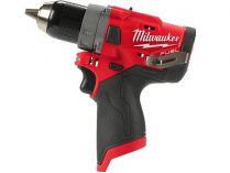 Milwaukee M12 FDD-0 - 12V, 44Nm, 2 rychl., 1.5kg, bez aku, bezuhlíková aku vrtačka bez příklepu