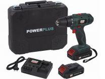 PowerPlus POWP8040 - 2x aku 2.0Ah LI-ION 2BAT, 40Nm, 1.3kg, BMC kufr, aku šroubovák bez příklepu