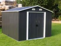 Plechový zahradní domek Tinman TIN404 - šedý, 210x236x238cm, 90kg