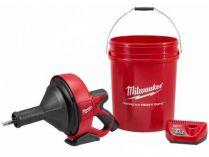 Aku čistič potrubí Milwaukee M12 BDC6-202C - 2x 12V/2.0Ah, spirála 6mm, 4.8kg