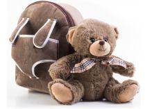 Batoh G21 s plyšovým medvídkem, hnědý