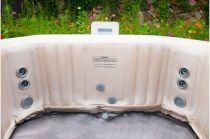 Mobilní vířivka HANSCRAFT MSpa Bliss E-BL06 ELITE - pro 4 osoby a 2 děti, ohřev 1500W, čerpadlo 720W, 930L, 1.85x1.85m, výška 0.68m, 41kg