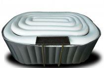 Mobilní vířivka HANSCRAFT MSpa Silver Nest D-NE02 DELIGHT - pro 2 osoby + boční barový stolek, ohřev 1500W, čerpadlo 35W, 550L,1.86x1.25m ovál, 24kg (111023-H)
