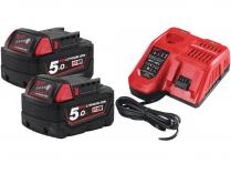 Sada nabíječky a akumulátoru Milwaukee M18 NRG-502 - 2x aku 18V/5.0Ah + nabíječka