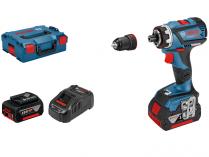 Bosch GSR 18V-60 FC FLEX Professional - 2x 18V/5Ah, 60Nm, kufr, bezuhlíková aku vrtačka bez příklepu