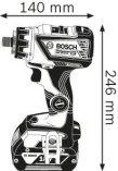 Bosch GSR 18V-60 FC SET Professional bezuhlíková aku vrtačka bez příklepu - 2x aku 18V/5.0Ah, 60Nm, 0.9kg, nástavce, v kufru L-BOXX 136 (06019G7100) Bosch Professional
