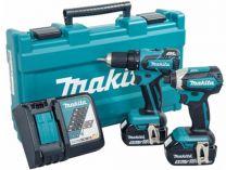 Sada aku nářadí Makita DLX2172T: DDF459 + DTD153 + 2x 18V/5.0Ah + kufr