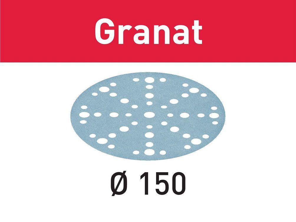 Brusný kotouč pro brusky Festool RO 150, ES 150, ETS 150, ETS EC 150, LEX 150, WTS 150, HSK-D 150 - 150mm, zrnitost P60, 10ks (Festool STF D150/48 P80 GR/10 Granat), kód: 575156