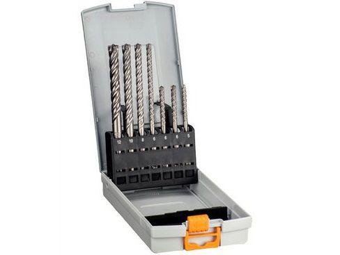 Hawera SHARX 7-dílná sada čtyřbřitých příklepových vrtáků do kladiv SDS-Plus, 5-12mm (266537)