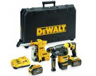Bezuhlíkové kombi aku kladivo DeWalt DCH335X2-QW - 2x 54V/9.0Ah Flexvolt, SDS-Plus, odsávání, kufr