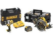 Sada aku nářadí DeWALT DCK2056T2T-QW: DCS375 + DCD996 + 2x aku 54V/6.0Ah Flexvolt + 2x kufr